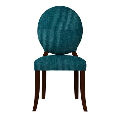 Lashley Wood Legs Side Chair Upholstery: Teal
