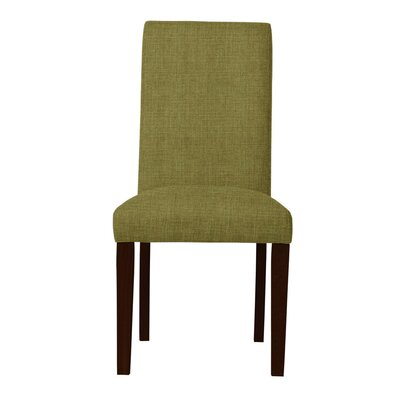 Beachwood Solid Back Upholstered Parsons Chair (Set of 2) Upholstery: Olive
