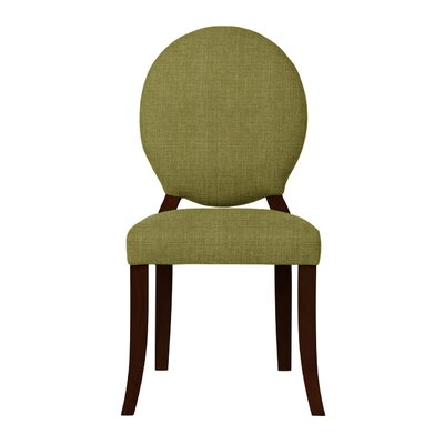 Lashley Wood Legs Side Chair (Set of 2) Upholstery: Olive