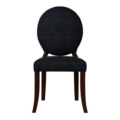 Lashley Solid Back Side Chair (Set of 2) Upholstery: Black