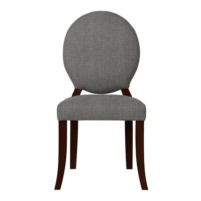 Lashley Wood Legs Side Chair Upholstery: Gray