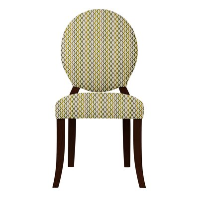 Lashley Geometric Side Chair Upholstery: Yellow/Gray
