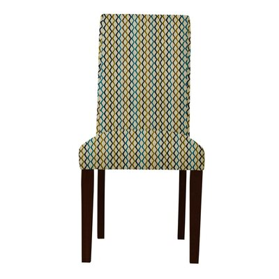 Beachwood Lattice Parsons Chair (Set of 2) Upholstery: Yellow/Gray