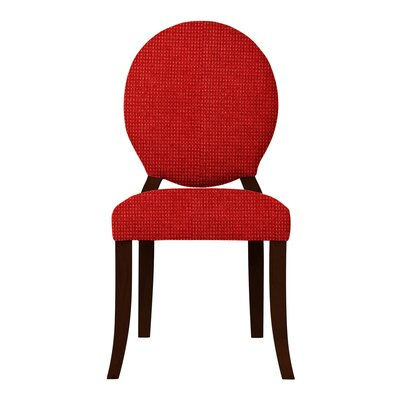 Lashley Wood Legs Side Chair Upholstery: Red