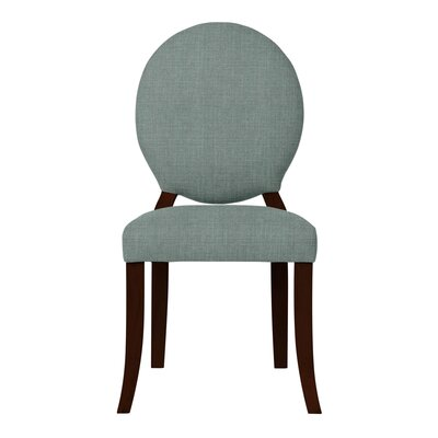 Lashley Wood Legs Side Chair (Set of 2) Upholstery: Cadet Blue