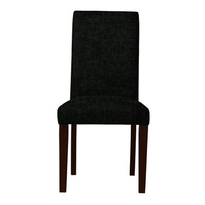 Beachwood Upholstered Parsons Chair Upholstery: Black