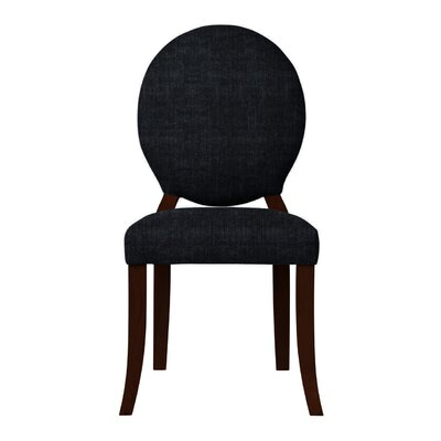 Lashley Upholstered Side Chair Upholstery: Black