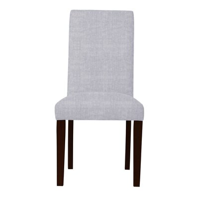 Beachwood Solid Back Parsons Chair (Set of 2) Upholstery: Light Gray
