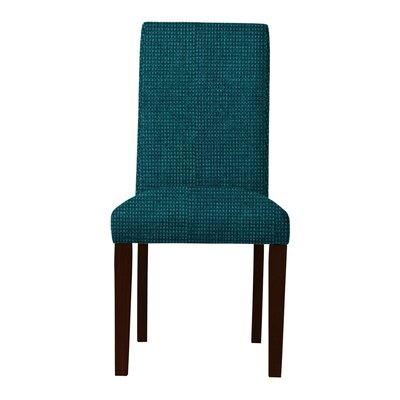 Beachwood Wood Legs Parsons Chair Upholstery: Teal