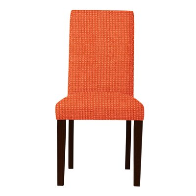 Beachwood Wood Legs Parsons Chair Upholstery: Orange