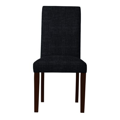 Beachwood Solid Back Side Chair Upholstery: Black