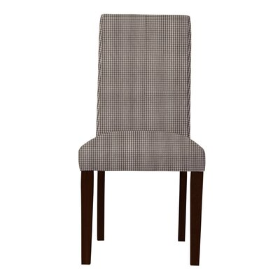 Beachwood Caro Parsons Chair (Set of 2) Upholstery: Dark Gray