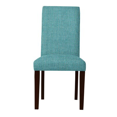 Beachwood Wood Legs Parsons Chair Upholstery: Light Blue