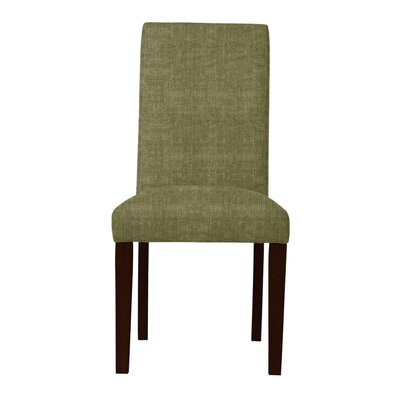 Beachwood Solid Back Parsons Chair (Set of 2) Upholstery: Green