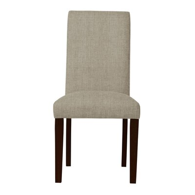 Beachwood Solid Back Upholstered Parsons Chair (Set of 2) Upholstery: Light Gray