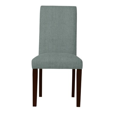 Beachwood Solid Back Upholstered Parsons Chair (Set of 2) Upholstery: Cadet Blue