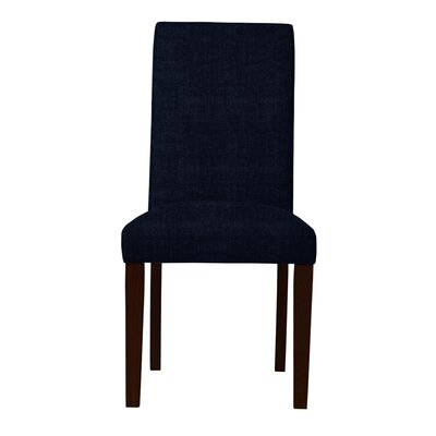Beachwood Solid Back Parsons Chair (Set of 2) Upholstery: Dark Blue