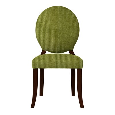 Lashley Wood Legs Side Chair (Set of 2) Upholstery: Green