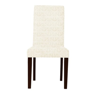 Beachwood Wood Legs Parsons Chair Upholstery: Cream