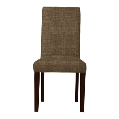 Beachwood Solid Back Parsons Chair (Set of 2) Upholstery: Brown