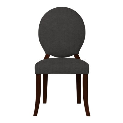 Lashley Solid Upholstered Side Chair Upholstery: Dark Gray