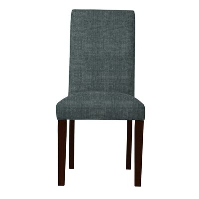 Beachwood Solid Back Parsons Chair (Set of 2) Upholstery: Gray