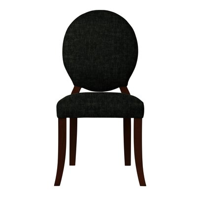 Lashley Curved Legs Side Chair Upholstery: Black