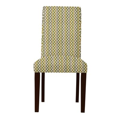 Beachwood Lattice Parsons Chair (Set of 2) Upholstery: Olive/Blue