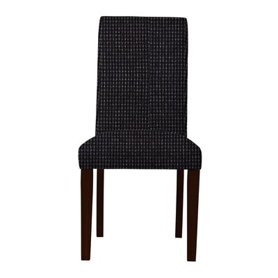 Beachwood Wood Legs Parsons Chair Upholstery: Black