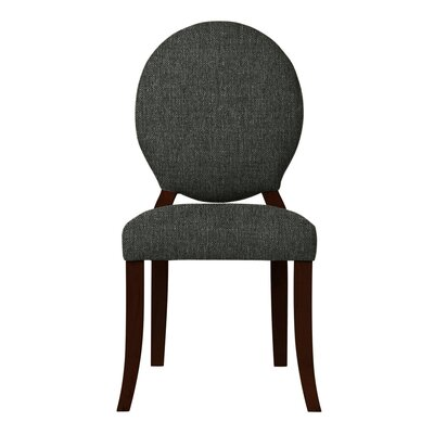 Lashley Solid Side Chair (Set of 2) Upholstery: Black