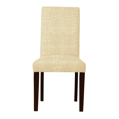 Beachwood Solid Back Side Chair Upholstery: Cream