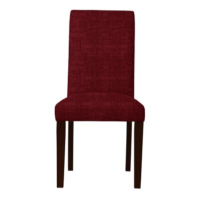 Beachwood Solid Back Side Chair (Set of 2) Upholstery: Red