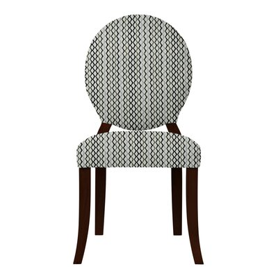 Lashley Geometric Side Chair Upholstery: Gray/Black
