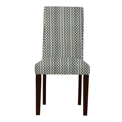 Beachwood Lattice Parsons Chair Upholstery: Gray/Black