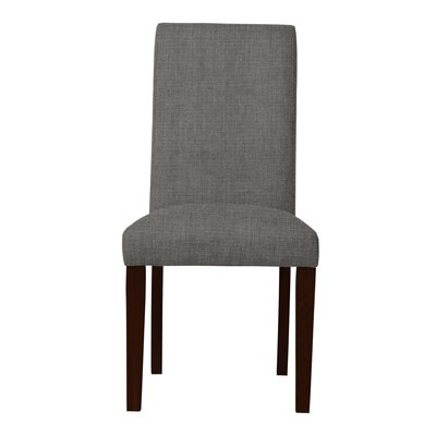 Beachwood Solid Back Upholstered Parsons Chair Upholstery: Gray