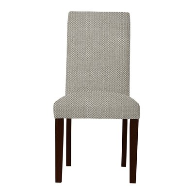 Beachwood Wood Legs Parsons Chair Upholstery: Light Gray