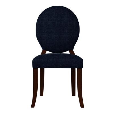 Lashley Upholstered Side Chair (Set of 2) Upholstery: Dark Blue