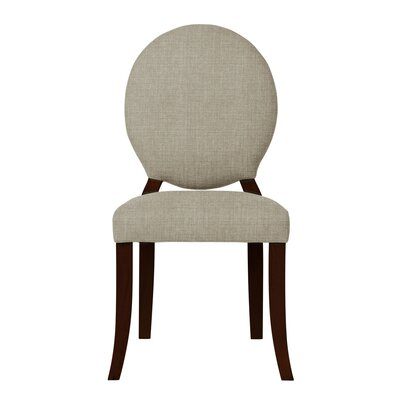 Lashley Wood Legs Side Chair (Set of 2) Upholstery: Light Gray