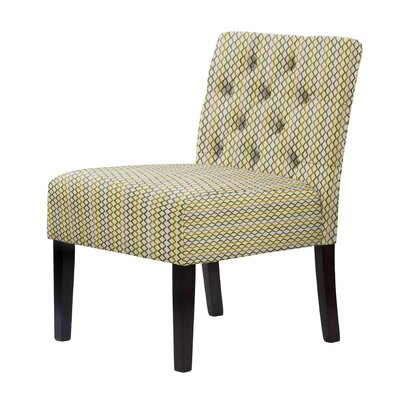 Lashbrook Tufted Dried Hardwood Slipper Chair Upholstery: Yellow