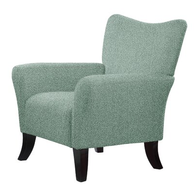 Laseter Upholstery Wood Arm Chair Upholstery: Mint
