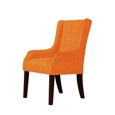 Macomb Wingback Chair Upholstery: Orange
