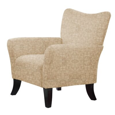 Laseter Dried HardwoodArm Chair Upholstery: Light Brown