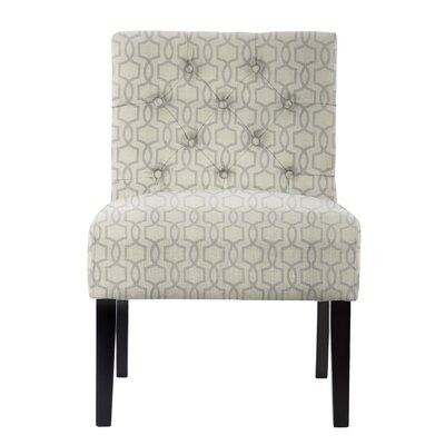Lashbrook Tufted Hex Honeycomb Slipper Chair