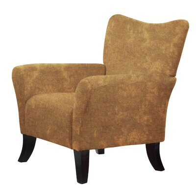 Laseter Wood Arm Chair Upholstery: Brown
