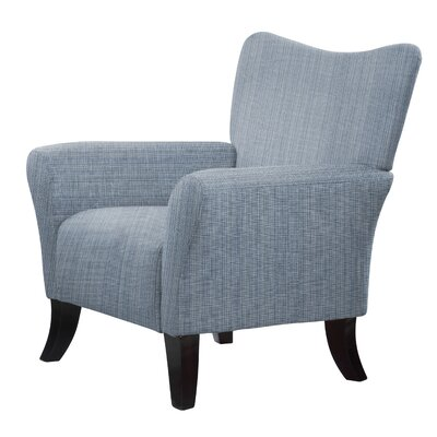 Laseter Hardwood Framed Accent Arm Chair Upholstery: Blue