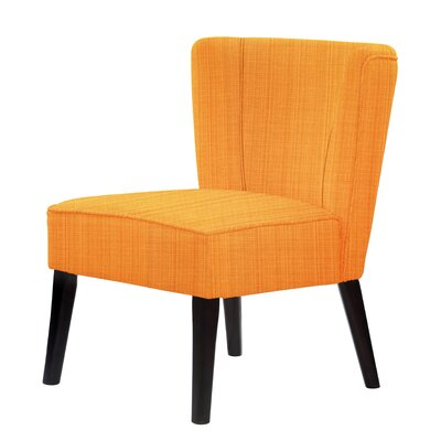 Lasalle Upholstery Hardwood Frame Slipper Chair Upholstery: Orange