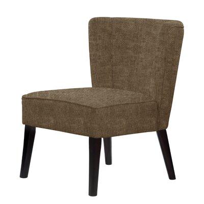 Lasalle Tufted Hardwood Frame Slipper Chair Upholstery: Dark Brown