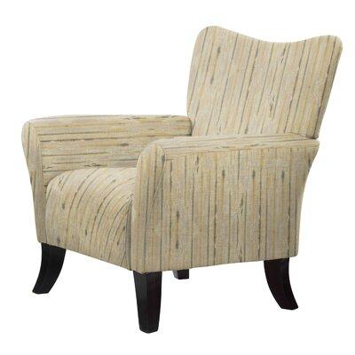 Laseter Stripe Wood Arm Chair