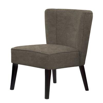Lasalle Tufted Hardwood Frame Slipper Chair Upholstery: Brown/Gray