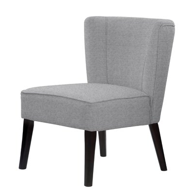 Lasalle Upholstery Hardwood Slipper Chair Upholstery: Light Gray